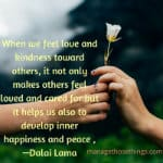 when we feel love and kindness