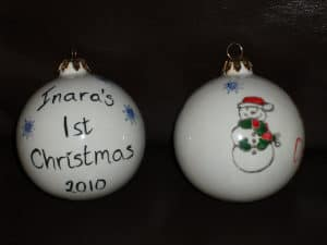 created4u christmas bauble